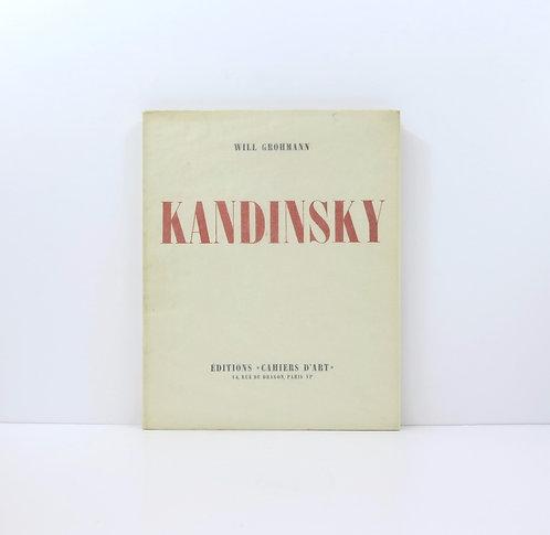 Kandinsky. By Will Grohmann, Editions Cahiers d'Art. 1930