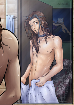 Kuon en la ducha