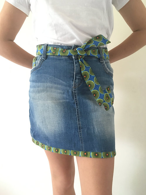 Jupe  jeans recyclés rond vert