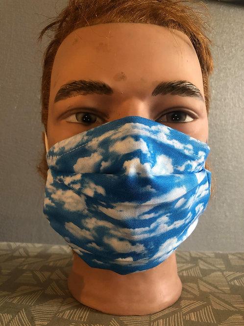 Masque tissus nuages selon les normes AFNOR