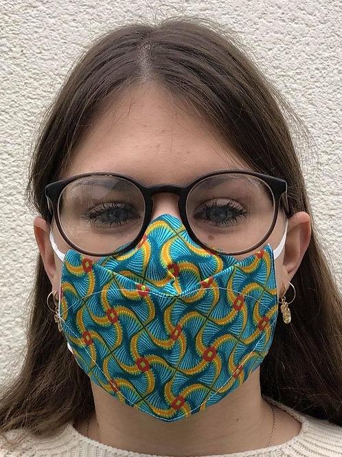 Masque 3D éolienne bleu/jaune