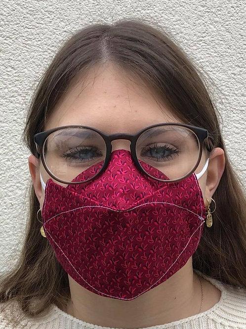 Masque 3D rouge 3 feuilles