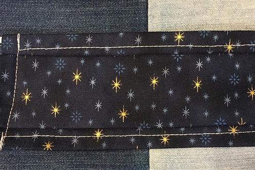 Masque tissus ciel étoilé bleu nuit  selon les normes AFNOR
