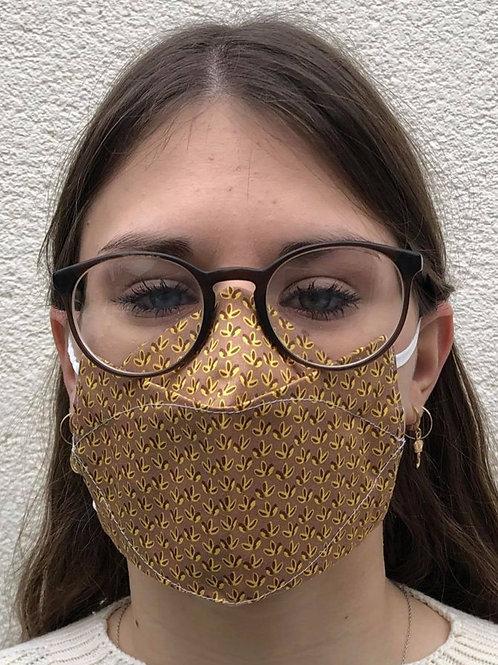 Masque 3D automne 3 feuilles
