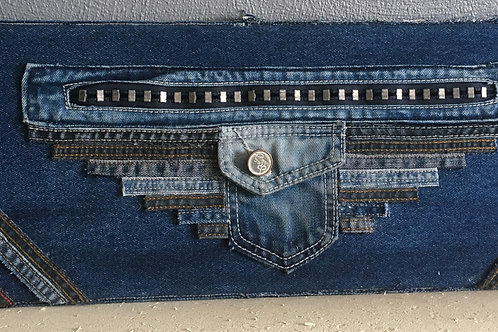 """Cadre Jeans recyclé """"rock"""""""