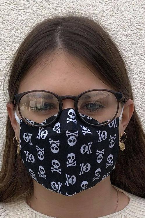 Masque 3D pirate noir