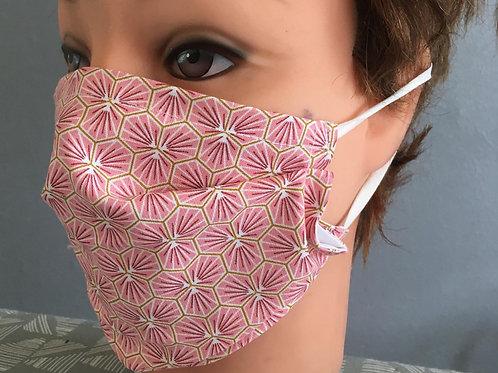 Masque alternatif alvéoles rose selon les normes AFNOR