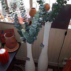 107€00 vase bouteille blanc H 87 cm