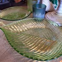 15€50 plat feuille verre grand modèle
