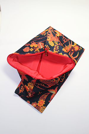 Clutch bag remade with kimono material | Series 1
