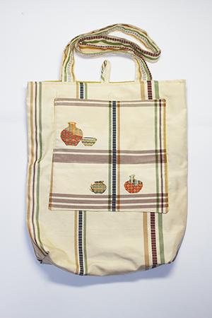 着物素材でリメイクしたバッグ|シリーズ1