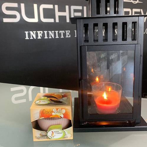 Aroma from Nature Orange Vanilla Candle 3 oz