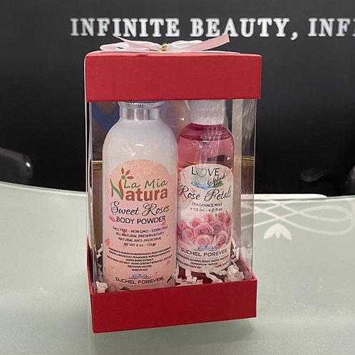 Gift Set Love Splash Rose Petals with Natural Lotion