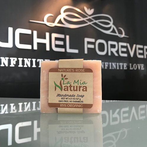 La Mia Natura Nature's Rose Handmade Soap 85% Organic 4.5 oz