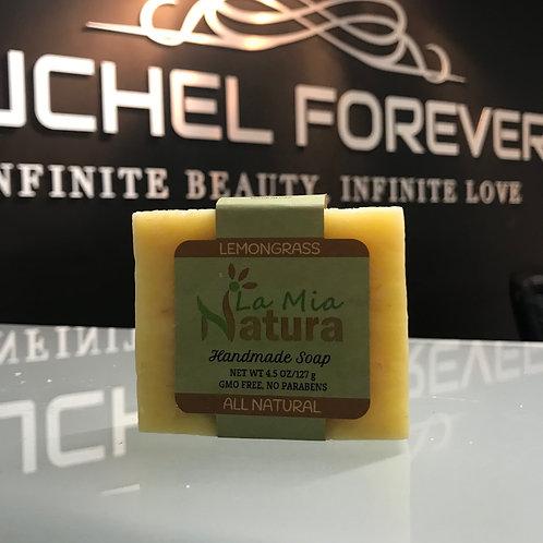 La Mia Natura Lemongrass Handmade Soap All Natural 4.5 oz