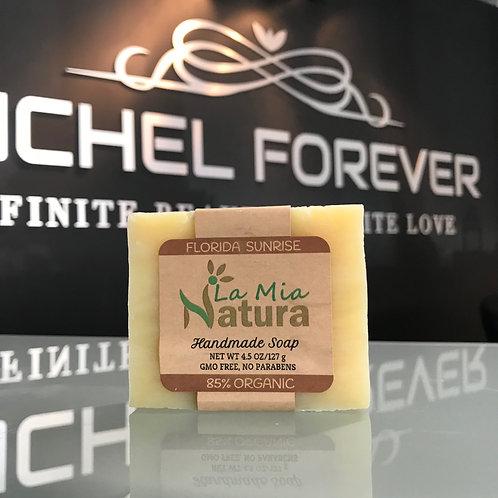 La Mia Natura Florida Sunrise Handmade Soap 85% Organic 4.5 oz