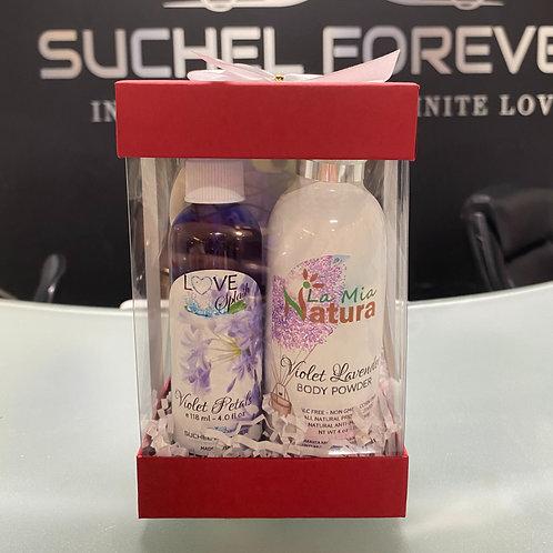 Gift Set Love Splash Violet Petals with Natural Lotion