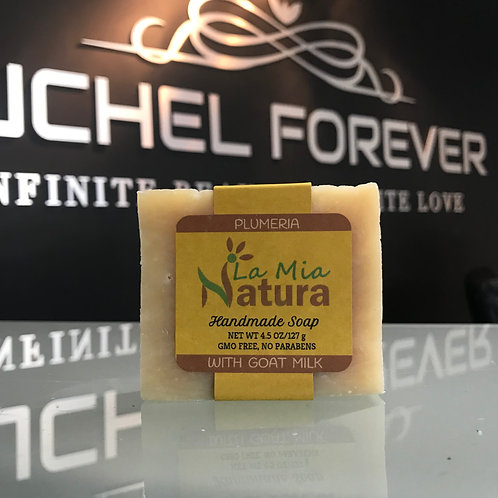 La Mia Natura Plumeria Handmade Soap with Goat Milk 4.5 oz