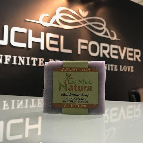 La Mia Natura Lavender Purple Handmade Soap All Natural 4.5 oz