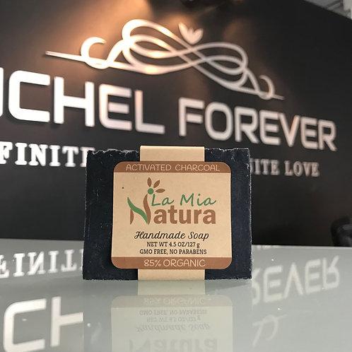 La Mia Natura Activated Charcoal Handmade Soap 85% Organic 4.5 oz