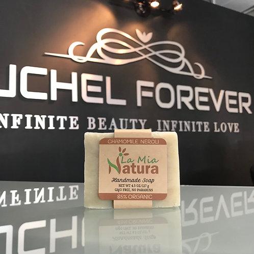 La Mia Natura Chamomile Neroli Handmade Soap 85% Organic 4.5 oz