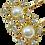 Thumbnail: Grampo Detalhes Pérola Dourado