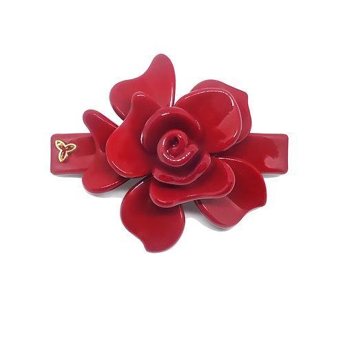 Fivela Flor Mini Vermelha