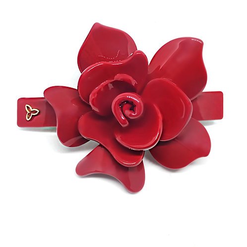 Fivela Flor Vermelha