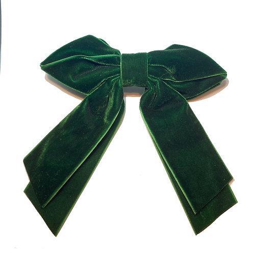 Fivela Laço Veludo Verde