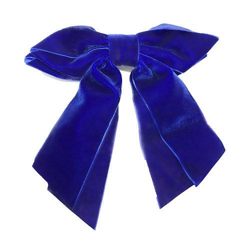 Fivela Laço Veludo Azul