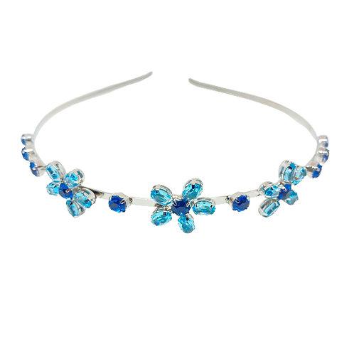 Tiara Flor Azul