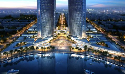 QNB and QCB Towers, Lusail, Qatar