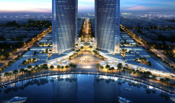 QNB and QCB Towers, Lusail, Qatar