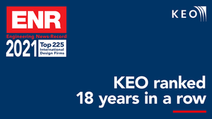 KEO celebrates its 18th consecutive year in the ENR rankings!