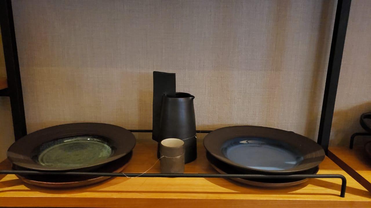 Vaso Castiçal e pratos