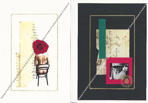 """Bel Miller - 2 gravuras """"Retratos de Eva V e VI"""""""