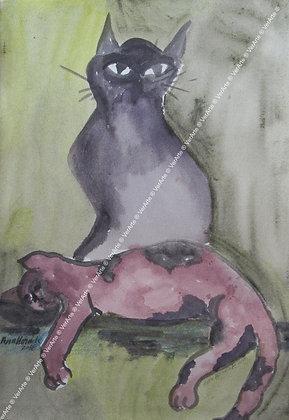 """Ana Marta Zammataro - """"Gato em repouso"""""""