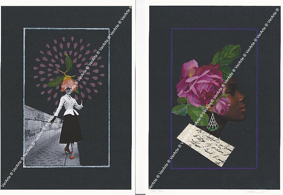 "Bel Miller - 2 gravuras ""Retratos de Eva III e IV"""