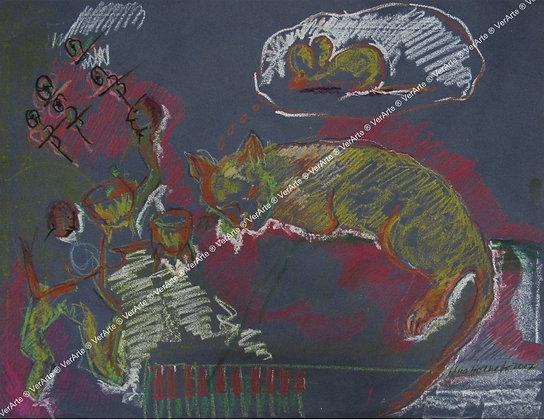 """AMZ - """"Gato de Orquestra sonhando com o Rato"""""""