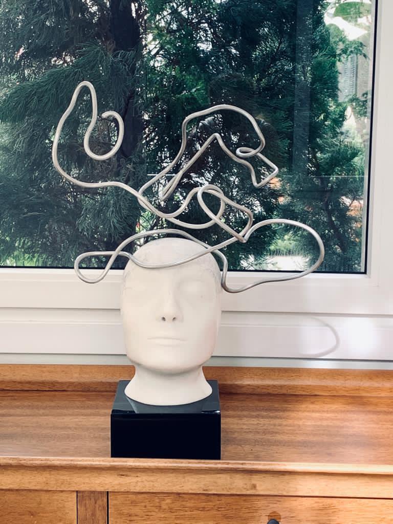 Cabeça com fios de Alúmino