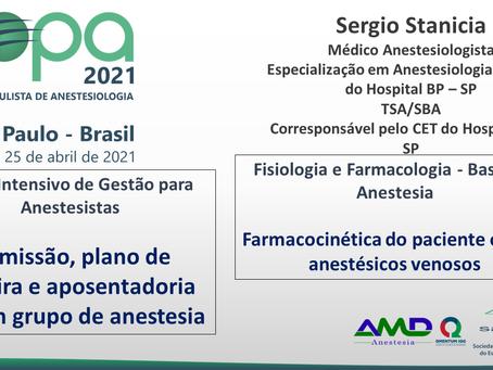 Curso Intensivo de Gestão para Anestesistas/Fisiologia e Farmacologia - Bases da Anestesia