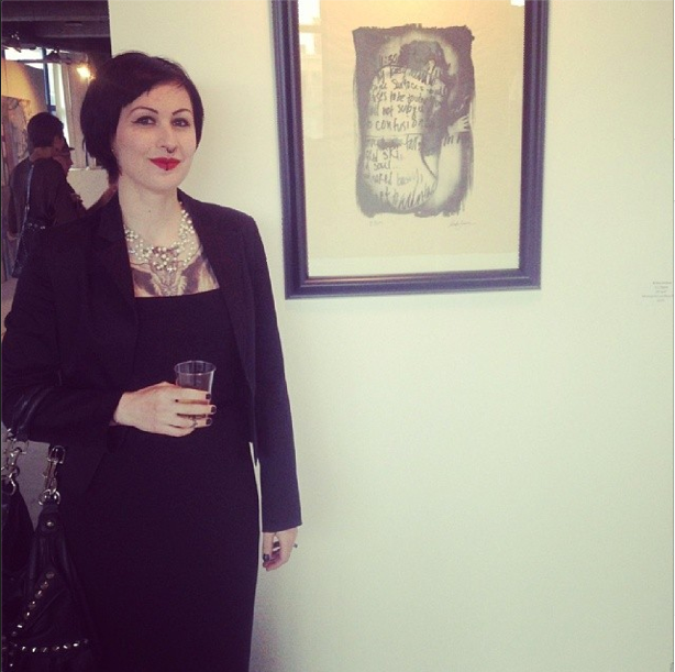 Anka in 2014 displaying at art exhibtion opening night