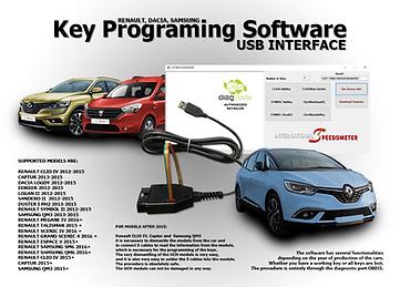 Key Programing Software USB interface Renault, Dacia, Samsung