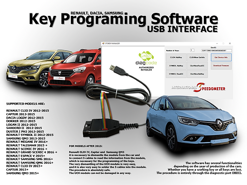 Key Programing Software USB interface Renault, Dacia, Samsung
