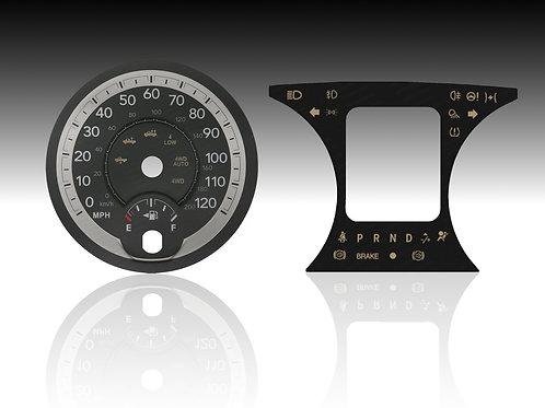 2013-2018 Dodge Ram 3D & Center Glass Faceplate (MPH) (x5Pcs.)