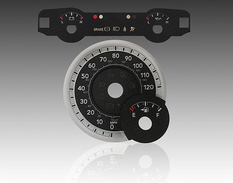 2013-2018 - Dodge Ram Gas Upper Center Faceplate & 3D Faceplate (MPH) (X5)
