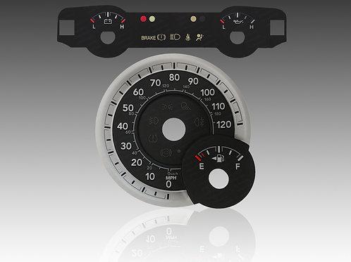 2013-2018 - Dodge Ram Gas Upper Center Faceplate & 3D Faceplate (MPH) (x5Pcs.)