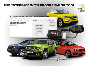 USB interface w/prog Fiat, Jeep, Dodge