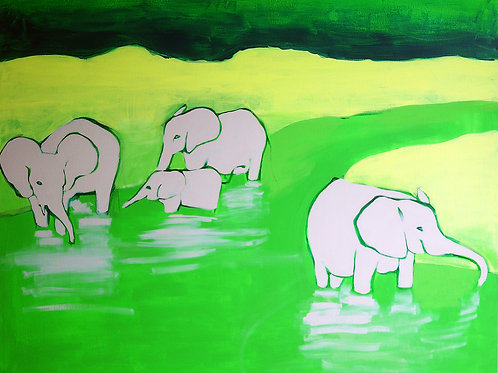 in the river / 100 x 120 cm / acrylic on canvas
