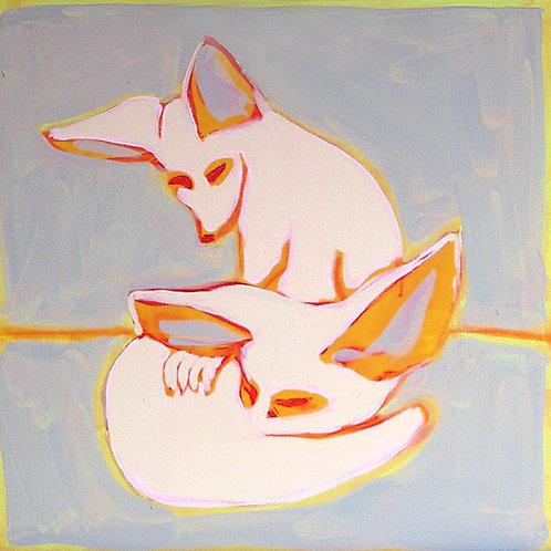 sleep well / 50 x 50 cm / acrylic on canvas
